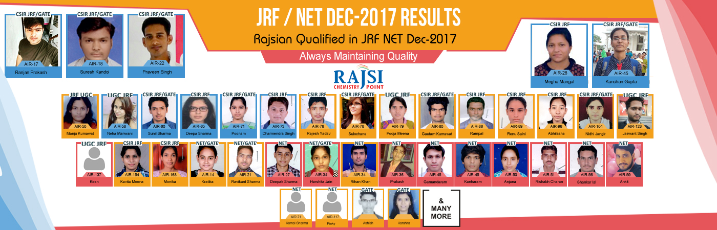 JRF, NET & GATE CHEMISTRY COACHING